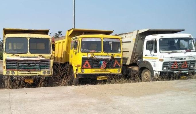 Raipur, Chhattisgarh, Illegal sand quarrying, Big action, 25 vehicles seized,