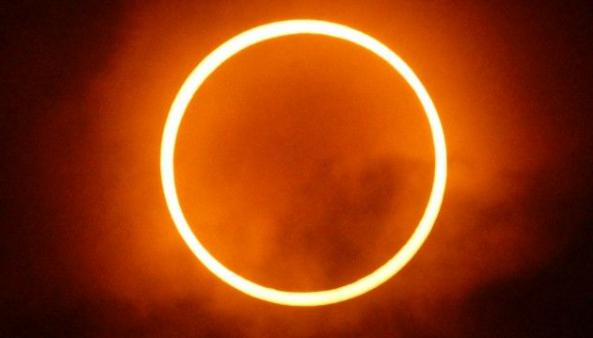 Solar Eclipse, India,