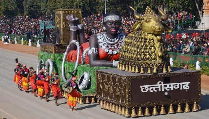 Held in New Delhi, Republic Day Parade, Chhattisgarh tableau,