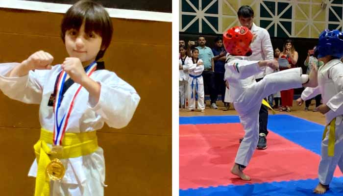 supper star, Shahrukh Khan, Younger son Abram, martial arts, Taekwondo,