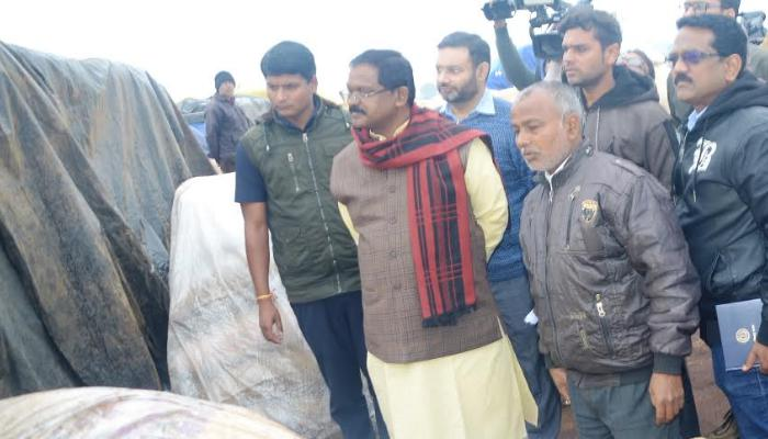 Chhattisgarh, Food Minister, Amarjeet Bhagat, Paddy Procurement Center, Surprise inspection,