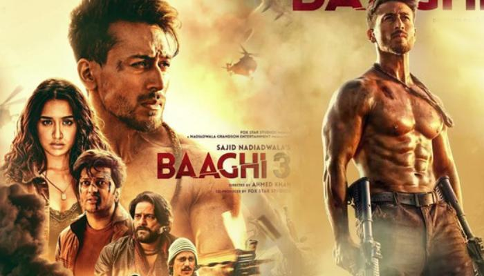 Bollywood actor, Tiger shroff, The film 'Baaghi 3', Holi day earnings,