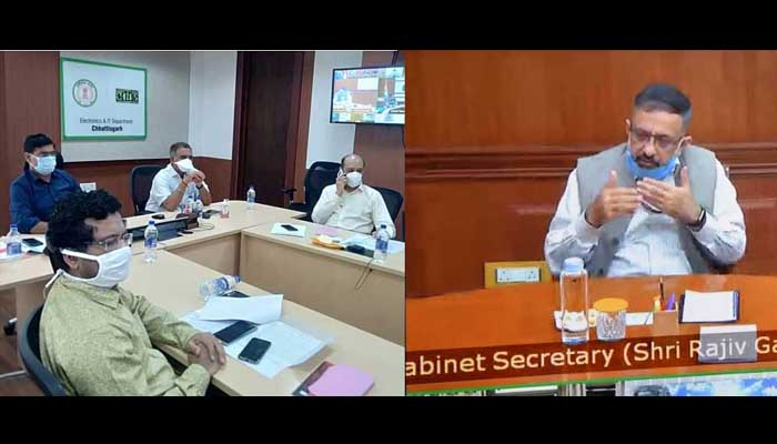 Cabinet Secretary Rajiv Gauba, From the Chief Secretaries of all states, Video conferencing,
