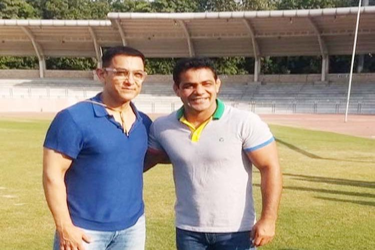 Aamir met wrestler Sushil Kumar, photo went viral| entertainment News in Hindi