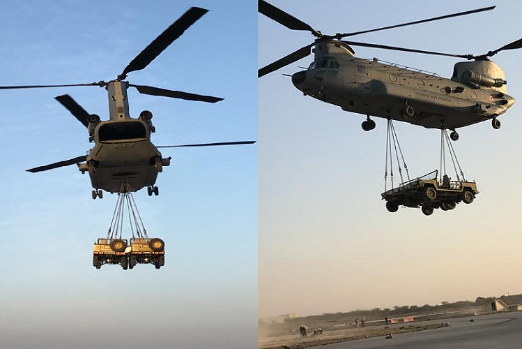 Suratgarh: Chinook's amazing acts in 'war exercise-2021' in Rajasthan's docks, these fighter aircraft involved in anti-terrorism operations| national News in Hindi