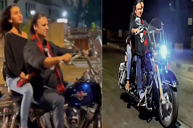 Bollywood Viral: Vivek Oberoi was seen enjoying the Valentine's Day without a helmet and mask on the streets of Mumbai late night, the video went viral and people started explaining traffic rules| entertainment News in Hindi
