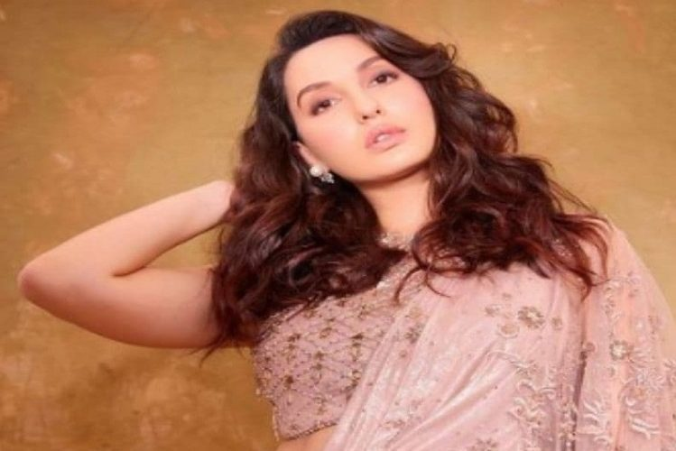 Bollywood actress Nora Fatehi's saree costs so much| lifestyle News in Hindi