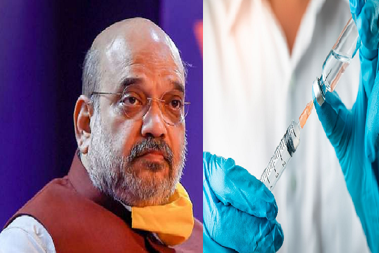Home Minister Amit Shah also took Corona vaccine after PM Modi, took first dose in Medanta Hospital| national News in Hindi
