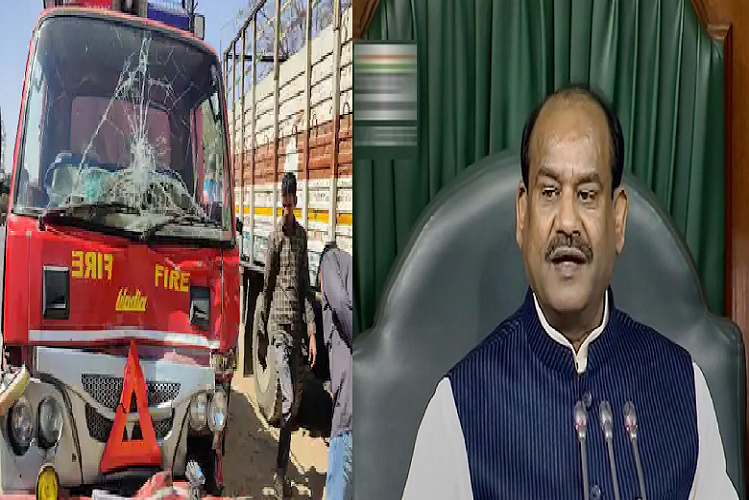 Vehicles involved in the convoy collided with each other during Dudu's visit to Lok Sabha speaker, narrowly escaped Om Birla, fire brigade and ambulance| national News in Hindi