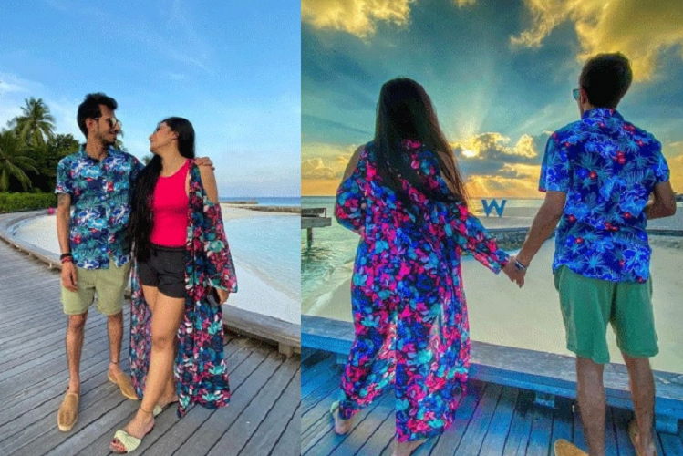 Vaccations in Maldives: Dhanashree Verma, wife of Indian cricket team's Yuzvendra Chahal, accepted 'Don't Rush Challenge', dancing in the middle with people in Maldives| sports News in Hindi