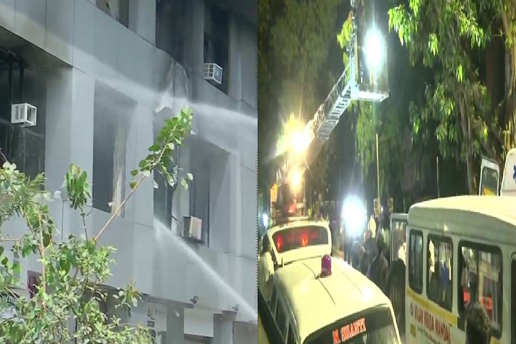 Maharashtra: Kovid care center was running in the mall in Mumbai, 70 patients were admitted, 10 burned due to fire, atmosphere of panic| national News in Hindi