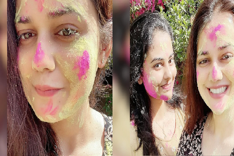 Viral Story: IAS 2016 topper Tina Dabi once in headlines, Tina appeared 'happy' after divorce with Athar Aamir, pictures of Holi going viral on social media | national News in Hindi