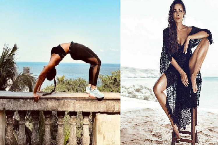 Bollywood News: Malaika Arora did sexy yoga by climbing the wall, Doom dressed in black dress, Arjun Kapoor's girlfriend | entertainment News in Hindi