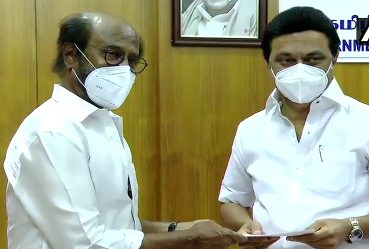 Chennai: Superstar Rajinikanth gave 50 lakhs in Corona Relief Fund, met CM Stalin in Chennai, this appeal to people in this era of crisis?