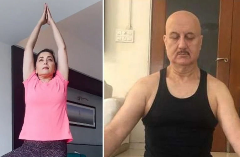 Bollywood celebs from Madhuri Dixiti to Anupam Kher delivers great message on Yoga Day| entertainment News in Hindi