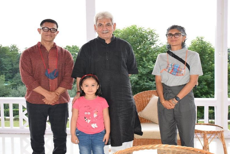 Jammu : Actors Aamir Khan and Kiran Rao meet Lieutenant Governor Manoj Sinha in Jammu and Kashmir, discuss the state's film policy, preparing to make the state Bollywood's favorite shooting spot again| entertainment News in Hindi
