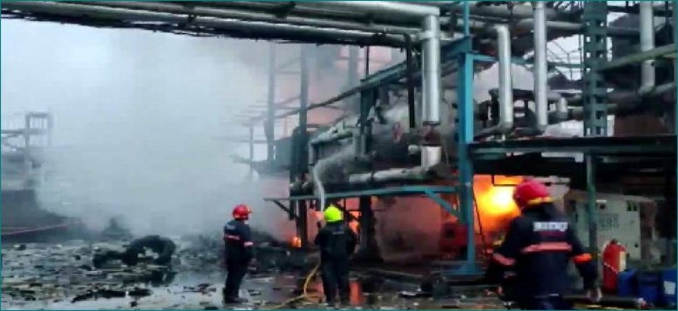 Maharashtra: Blast at textile factory and massive fire breaks out